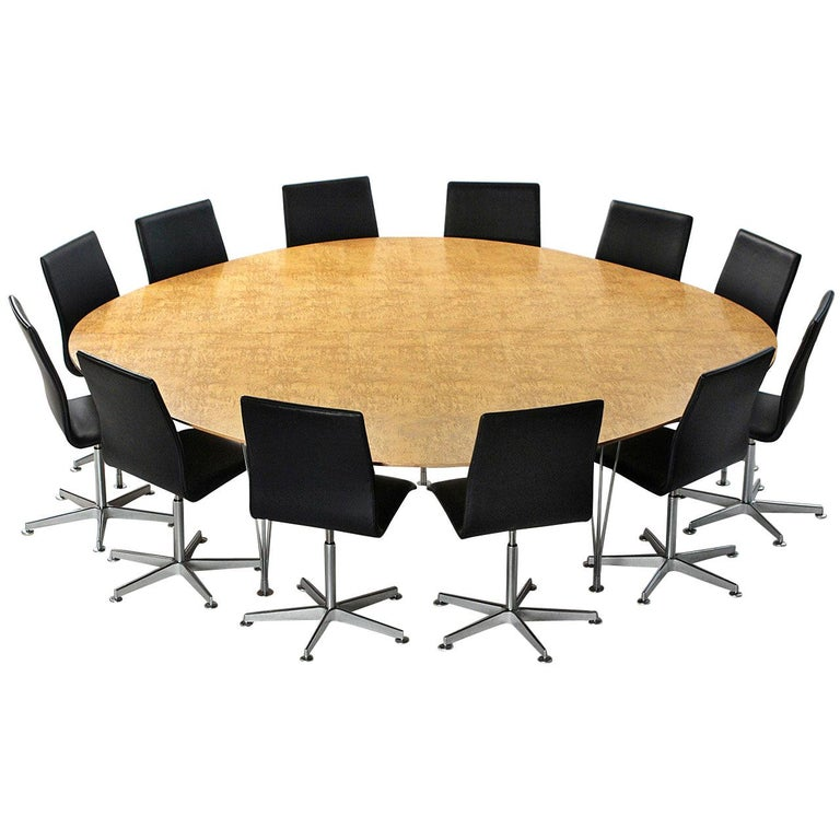 'Super Ellipse' Conference or Dining Table by Piet Hein For Sale