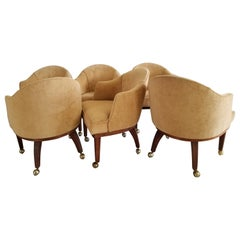 Superfun California Living Design Chet Beardsley Six Dining Caster Chairs 1960s