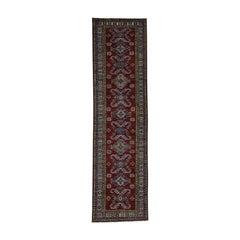 Super Kazak Hand Knotted Pure Wool Wide Runner Oriental Rug