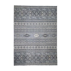 Super Kazak Khorjin Design Natural Colors Hand Knotted Oriental Rug