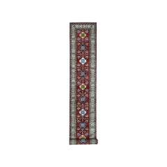 Super Kazak Red Geometric Design Pure Wool Hand Knotted Extra Large Runner Rug