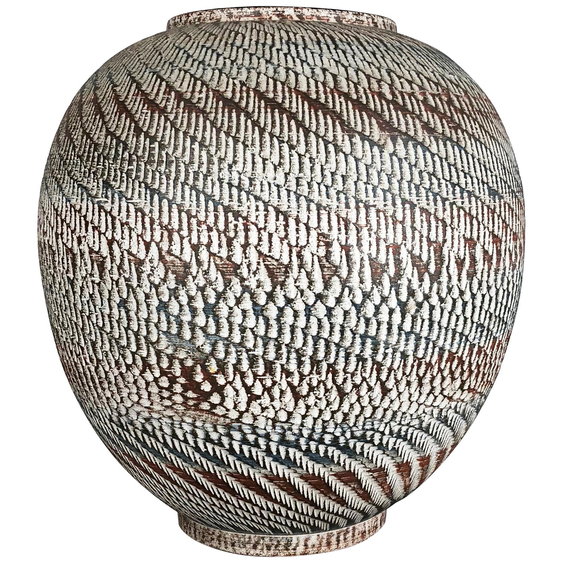 Super Large Ceramic Pottery Floor Vase by Dümmler and Breiden, Germany, 1950s