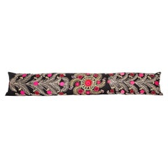 Super Long Lumbar Pillow Case Made from a Vintage Suzani