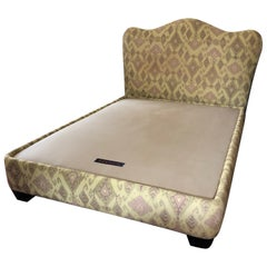 Super Luxe Donghia Uphostered Platform Queen Size Bed and Headboard