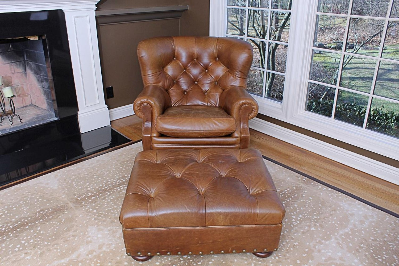 Cool Super Luxe Ralph Lauren Tufted Leather Writers Club Chair Uwap Interior Chair Design Uwaporg