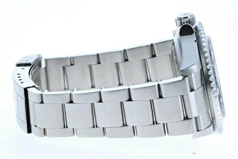 Women's or Men's Super Mint Rolex 16600 Sea-Dweller Black Dial Men's Watch Box & Paper For Sale
