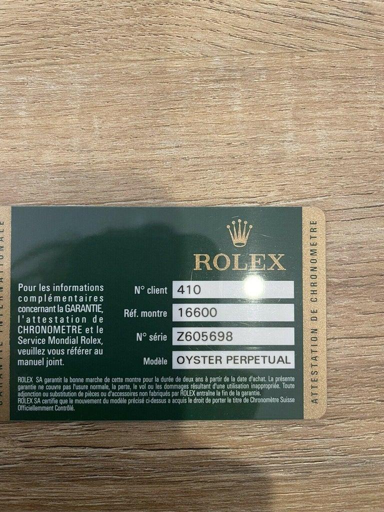 Super Mint Rolex 16600 Sea-Dweller Black Dial Men's Watch Box & Paper For Sale 3
