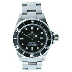 Super Mint Rolex 16600 Sea-Dweller Black Dial Men's Watch Box & Paper