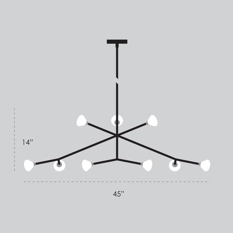Super Nova Chandelier, Contemporary Geometric Branching Brass Light Fixture For Sale 2