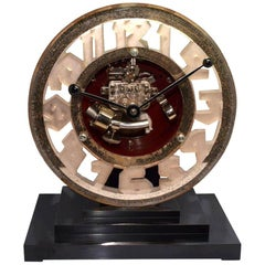Super Rare Art Deco Ato Clock, circa 1930