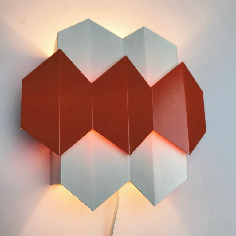 Mid-20th Century Super Rare Danish Wall Sconce Designed by Bent Karlby for Lyfa, Denmark 1960s