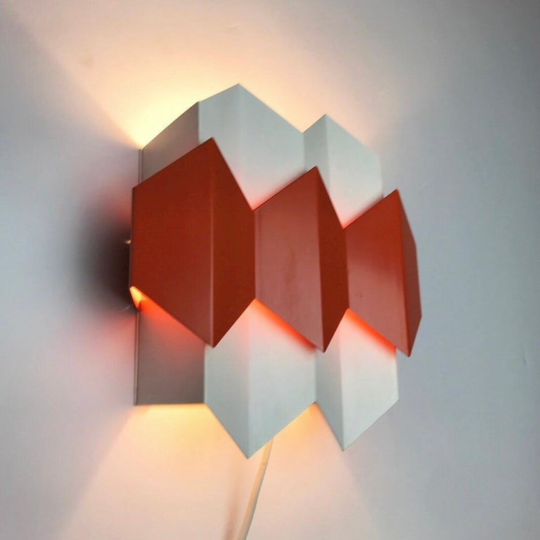 Lacquer Super Rare Danish Wall Sconce Designed by Bent Karlby for Lyfa, Denmark 1960s