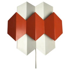 Super Rare Danish Wall Sconce Designed by Bent Karlby for Lyfa, Denmark 1960s