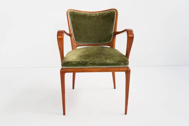 Italian Super Rare Osvaldo Borsani Chairs, 1950 Atelier Borsani Varedo For Sale
