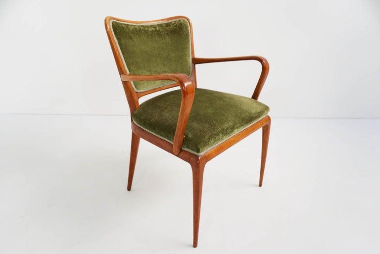 Super Rare Osvaldo Borsani Chairs, 1950 Atelier Borsani Varedo In Excellent Condition For Sale In Chiasso, CH