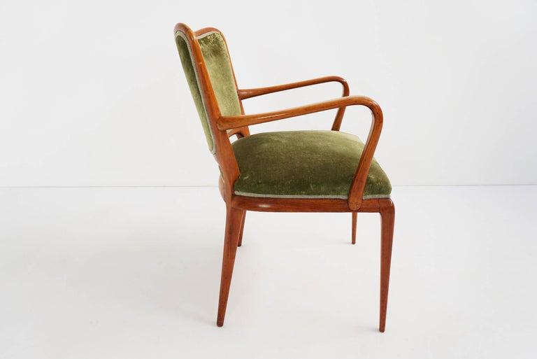Mid-20th Century Super Rare Osvaldo Borsani Chairs, 1950 Atelier Borsani Varedo For Sale