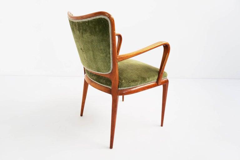 Upholstery Super Rare Osvaldo Borsani Chairs, 1950 Atelier Borsani Varedo For Sale