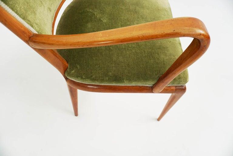 Super Rare Osvaldo Borsani Chairs, 1950 Atelier Borsani Varedo For Sale 1