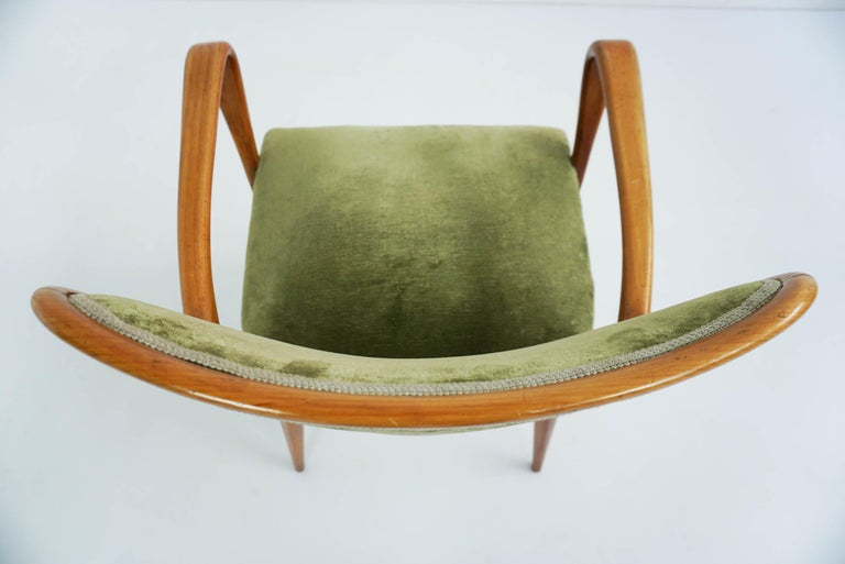 Super Rare Osvaldo Borsani Chairs, 1950 Atelier Borsani Varedo For Sale 2