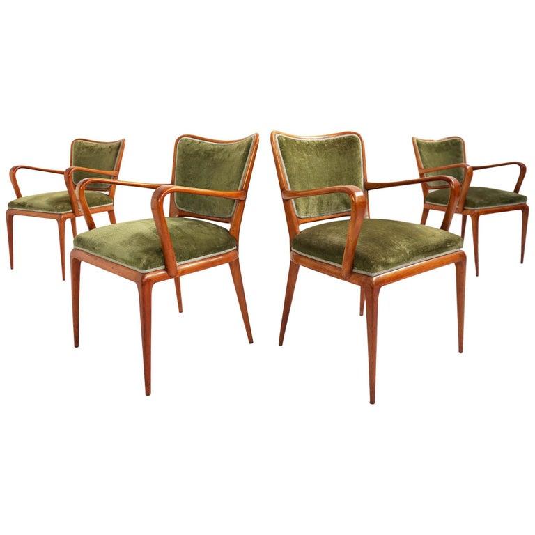 Super Rare Osvaldo Borsani Chairs, 1950 Atelier Borsani Varedo For Sale