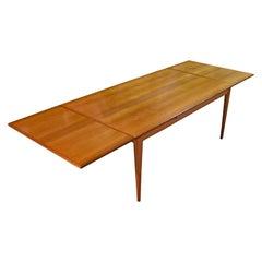 Super-Size Niels Otto Møller Extendable Danish Teak Dining Table for J.L. Møller