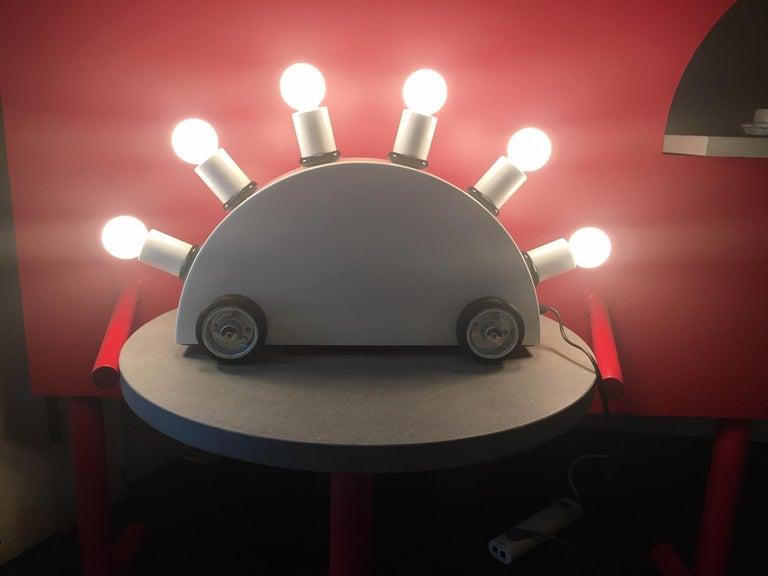 Post-Modern Martine Bedin White Super Table Lamp for Memphis Srl For Sale