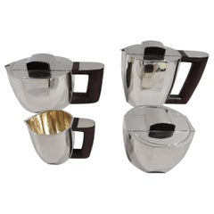 Super Stylish French Art Deco Coffee and Tea Set by Jean Puiforcat