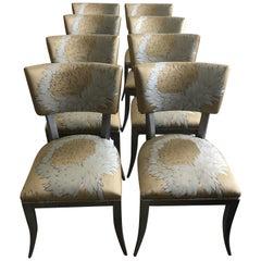 Super Stylish Set of 8 Custom Klismos Dining Chairs