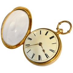 Mid 19th Century Superb 14-karat Gold Musical Repeater Pocket Watch