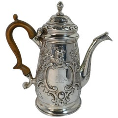 Superb 1770 Georgian Silver Coffee Pot 10oz