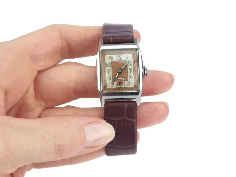 This without a doubt one of our favourite looking watches from the last 12 months. If you're one of many who admire the Art Deco style or know someone who does, then consider this fine watch as it maybe the perfect fit. The dial is the hero to this