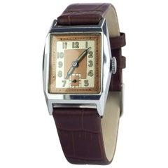 Superb 1930s Art Deco Gents Wristwatch, Newly Serviced