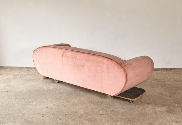 Superb 1950s Pink Sofa Attributed to Maison Gouffé, France, 1950s For Sale 4
