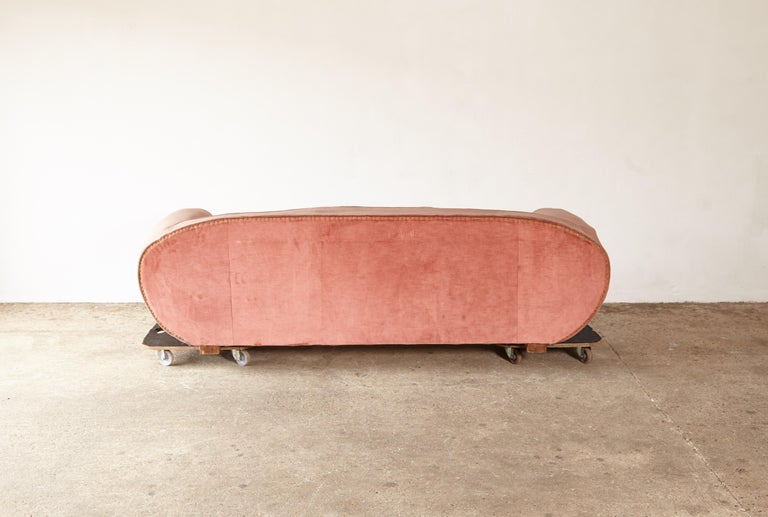 Superb 1950s Pink Sofa Attributed to Maison Gouffé, France, 1950s For Sale 5