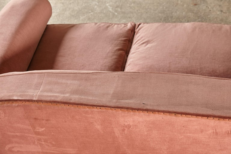 Superb 1950s Pink Sofa Attributed to Maison Gouffé, France, 1950s For Sale 9