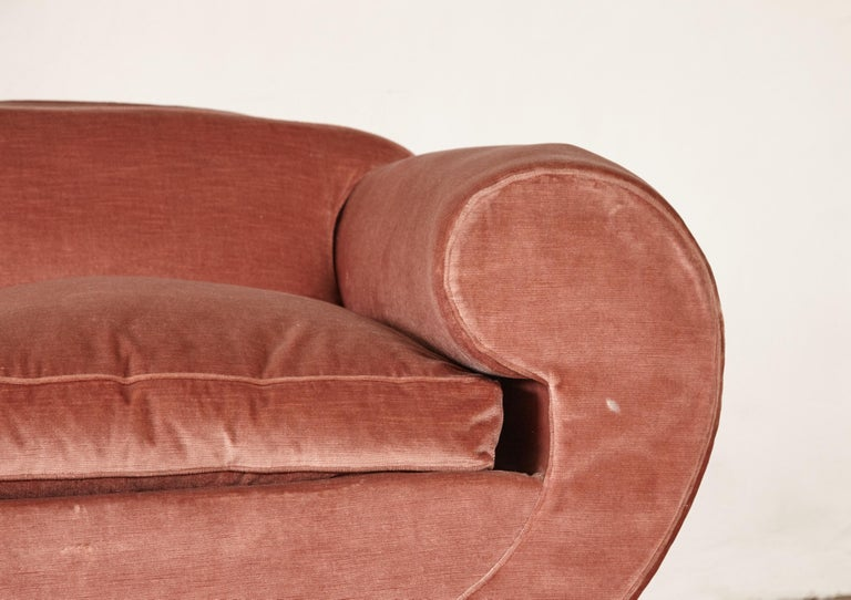 20th Century Superb 1950s Pink Sofa Attributed to Maison Gouffé, France, 1950s For Sale