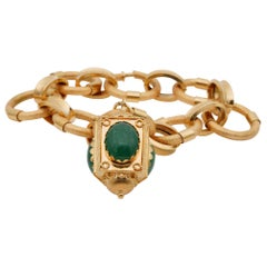 Superb 1960 Stylish Italian Charm Bracelet 18 Karat Gold