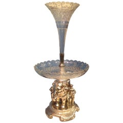 Superb 19th Century Anglo-Indian Style Elephant Motif Centerpiece / Epergne