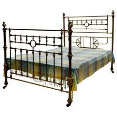 Superb 19th Century Arts & Crafts Brass Bed