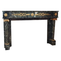 Superb 19th Century Empire bronze mounted mantle