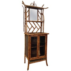 Superb 19th Century English Bamboo Bookcase or Side Cabinet