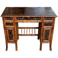 Superb 19th Century English Bamboo Lacquer Bamboo Desk