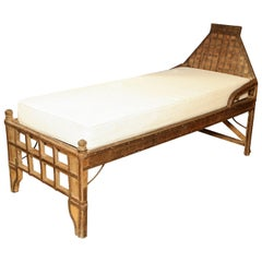 Superb 19th Century Indian Iron Mounted Bed