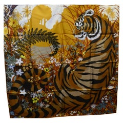 "Superb 2015 Hermes Silk Scarf "" Tyger Tyger "" by  Alice Shirley"