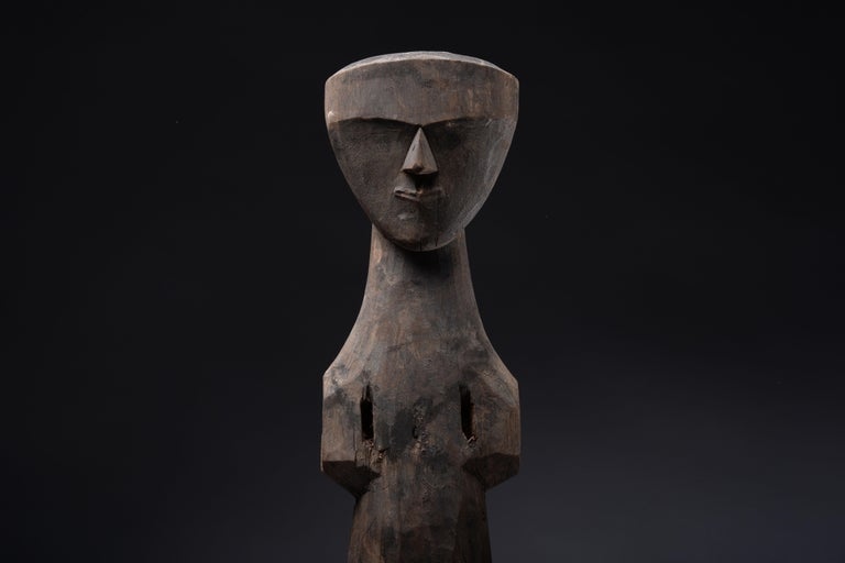 18th Century and Earlier Superb Ancient Chinese Chu Kingdom Wooden Spirit Figure, 350 BC For Sale