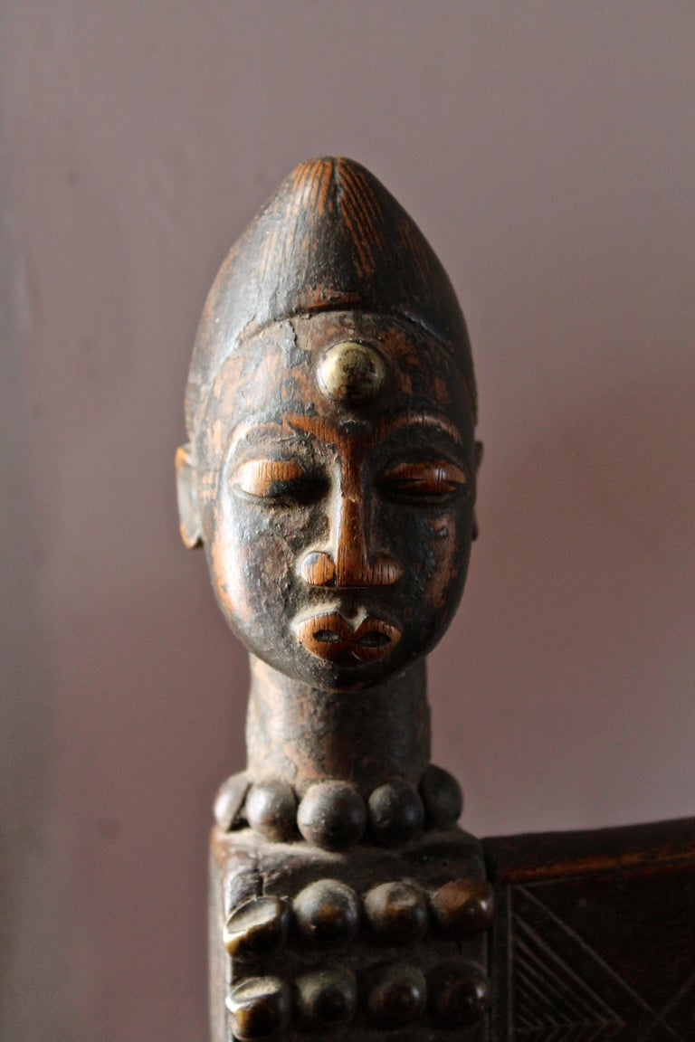 Superb and Rare 19th Century Baule Chair from the Ivory Coast For Sale 4