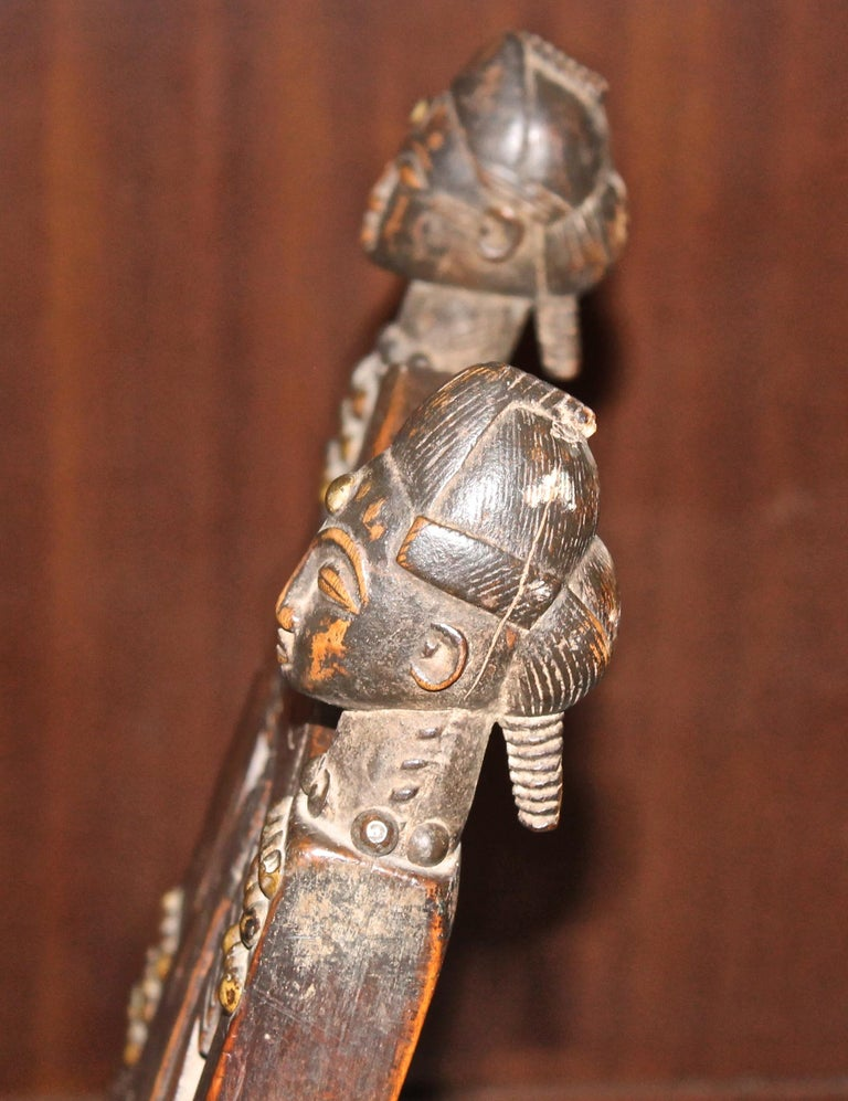 Superb and Rare 19th Century Baule Chair from the Ivory Coast For Sale 5