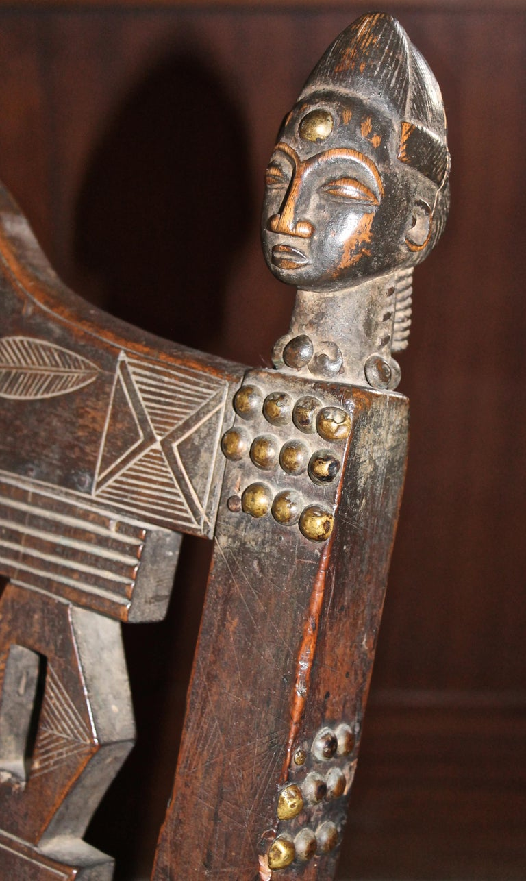 Superb and Rare 19th Century Baule Chair from the Ivory Coast For Sale 9