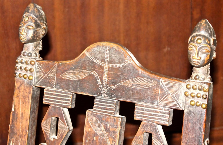 Superb and Rare 19th Century Baule Chair from the Ivory Coast For Sale 10