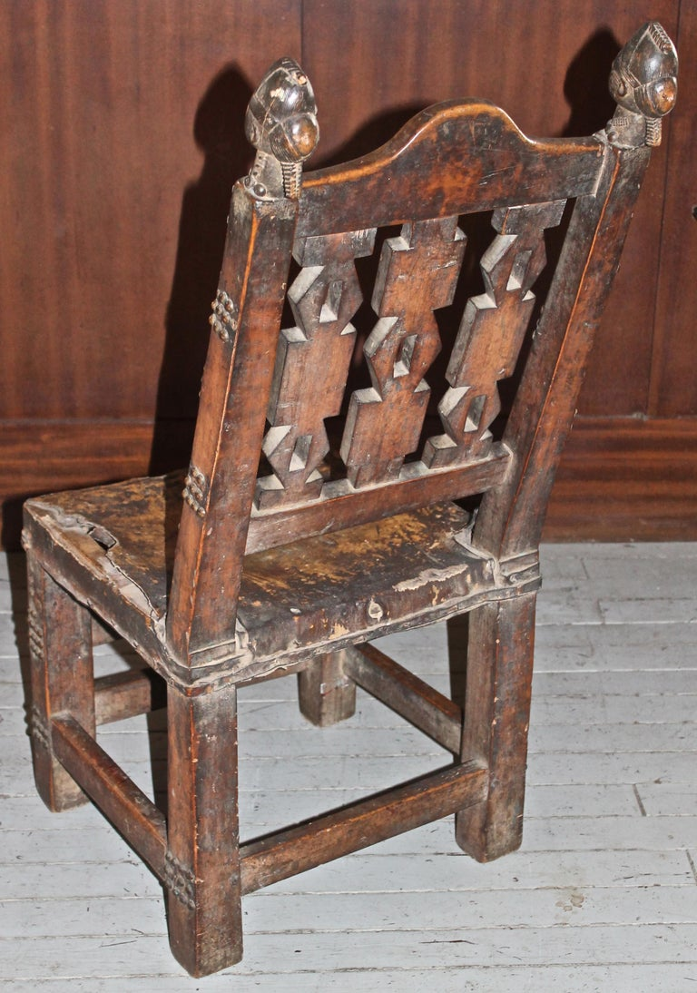 Tribal Superb and Rare 19th Century Baule Chair from the Ivory Coast For Sale
